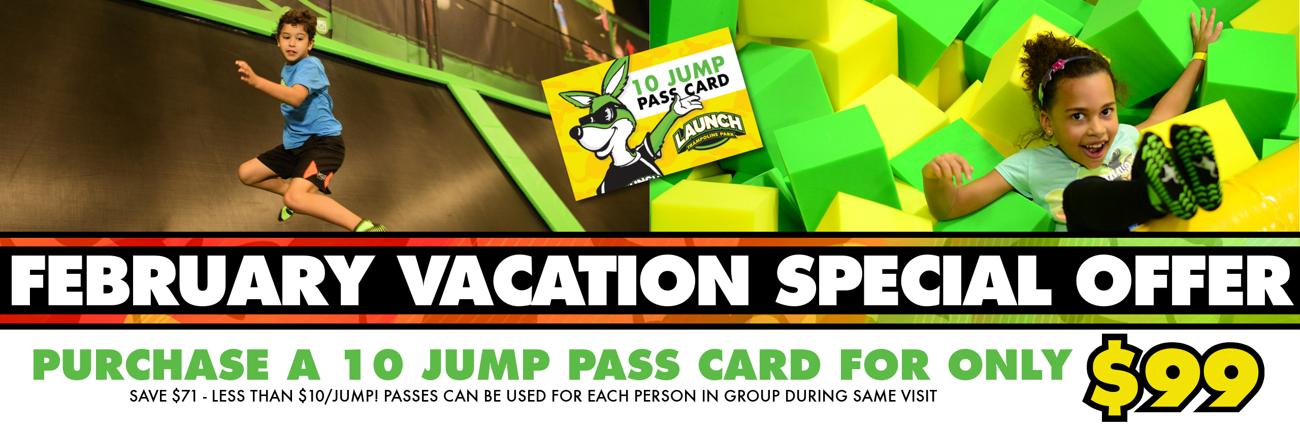 10 Jump for $99 Vaca Special