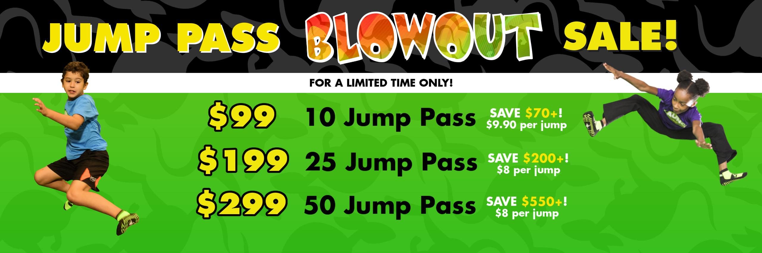 November Jump Pass Blow Out Sale